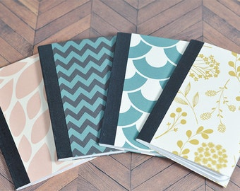 Mini Composition Book Journal (Set of 4)