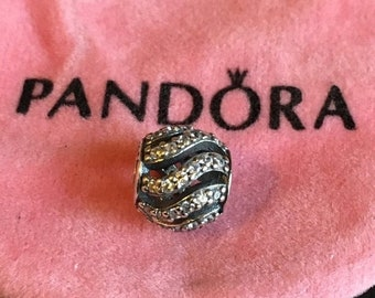 ON SALE Genuine Pandora Sterling Silver Winter Wisp Swirl Bead Charm *NEW* 791197Cz