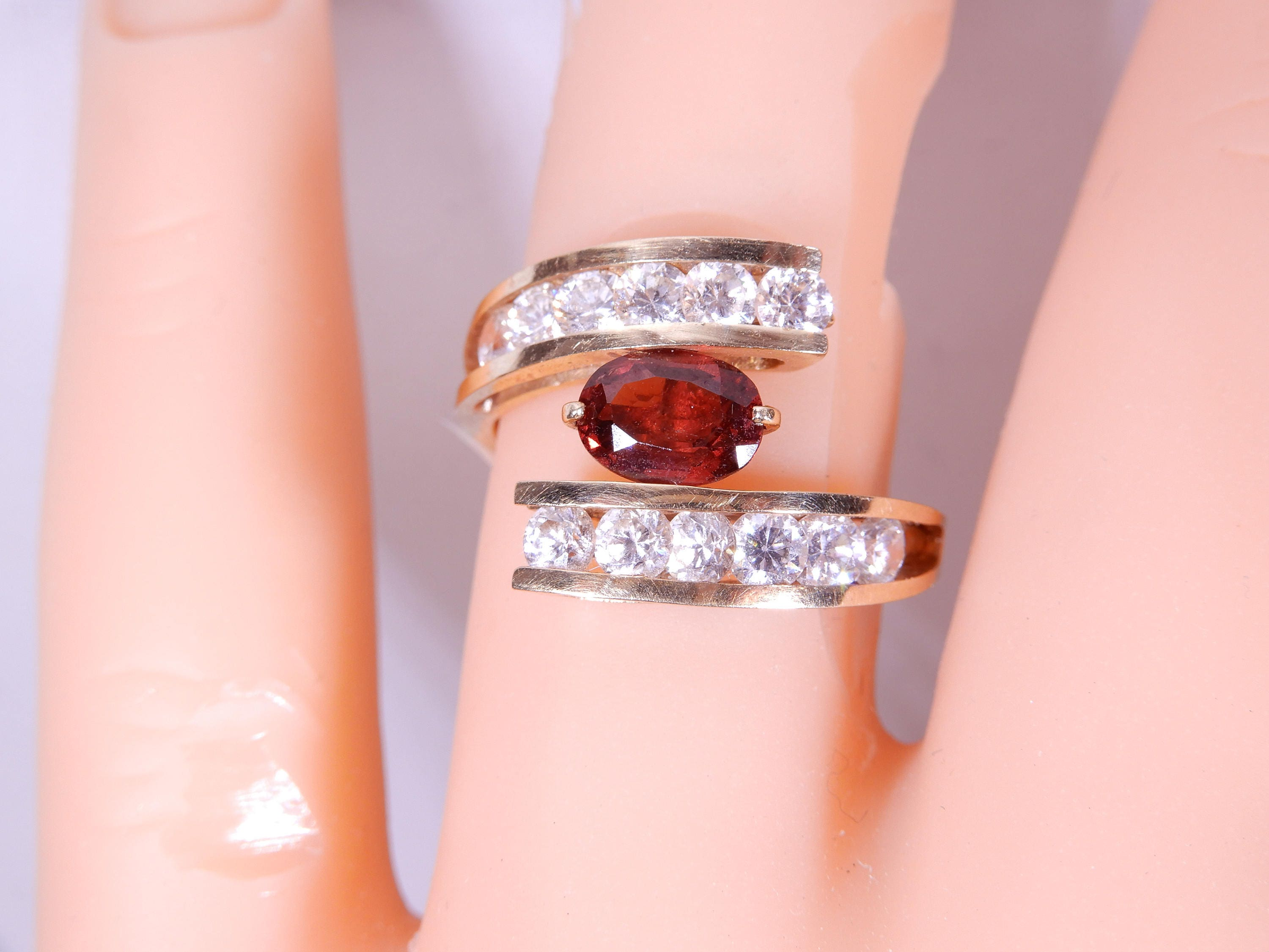 Garnet 14k Gold ring Size 6.75
