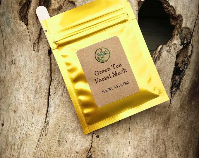 Green tea facial mask - Green tea face mask - Facial mask - Face mask for skin - Herbal skincare - Herbal shops - Organic skincare products