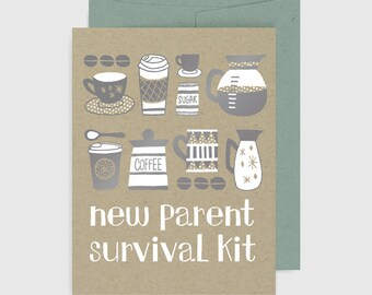 Baby Card - New Parent Survival Kit