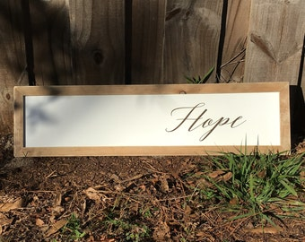 Farmhouse Frames With a Twist 'Hope'