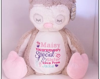 Personalised teddy bear embroidered bears personalised baby personalised teddy bear embroidered bears personalised baby gift christening birthday gift negle Images