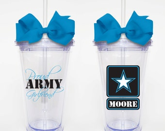 Proud Army Girlfriend - Acrylic Tumbler Personalized Cup