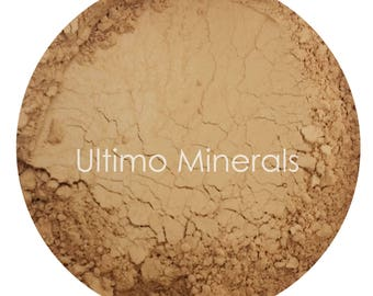 Ultimo Minerals HONEY TAN All-Natural Kosher Full-Coverage Mineral Foundation - Soft Pearlescent Finish - FREE Shipping!
