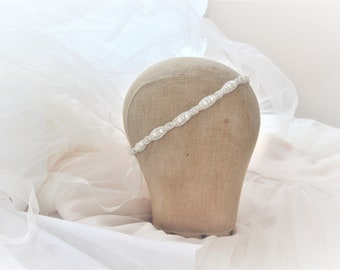 KATE Gorgeous and Delicate Crystal and Pearl Bridal Headband