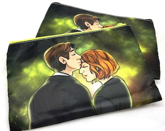 X-Files Mulder Truth is out there Scully pouch pencil case
