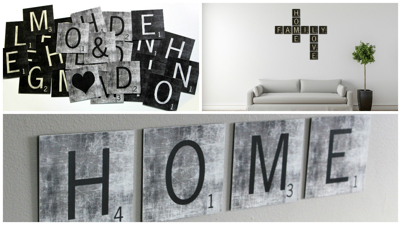 Large scrabble tiles scrabble wall art metal scrabble wall zoom dailygadgetfo Image collections