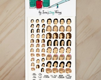 You Got It Dude Handpainted Full House Nail Art Decals
