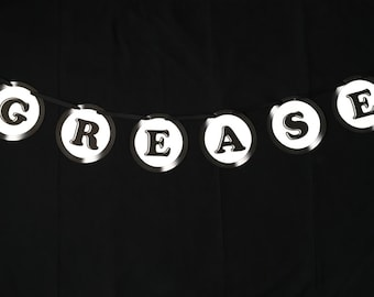 Grease Themed Party Banner