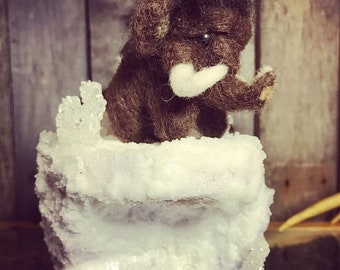 Wolly Mammoth Needle Felted Figurine