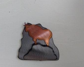 Mountain Goat on the Cliffs Mini Sculpture