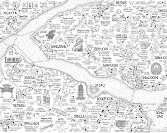 Gone to China - hand-drawn map