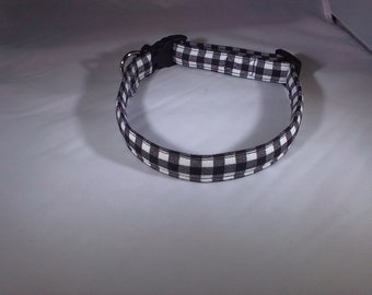 Dog Collar - Black and White Checkered