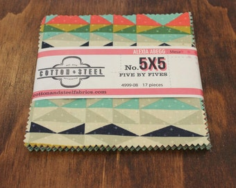 "Mesa 17 piece 5""x5"" Fabric Pack-- Mesa by Alexia Abegg for Cotton & Steel-- Variated Quilting Fabric Bundle"