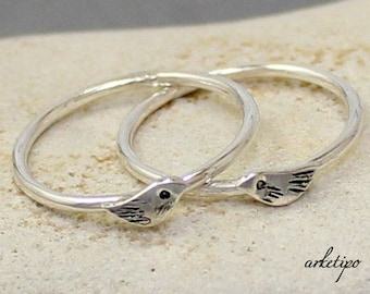 Bird Ring of sterling silver...Stack ring... Stacking Ring.. You will love it.. One Ring..