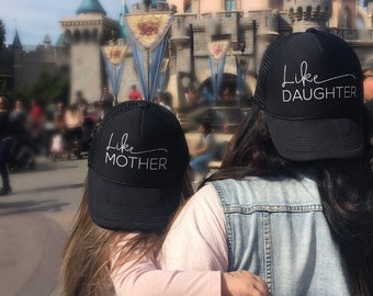 Like Mother Like Daughter Hat Set, Mom Hat, Mama Hat, Gift for Mom, Mom Gifts, Momlife Hat, Mom, Mama, Mom Trucker Hat, Mama Trucker