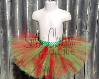 Red And Green Tutu.. Christmas Tutu.. Red and Green Christmas Tutu.. Red And Green Birthday Tutu.. Red And Green Full Tutu.. Red And Green..