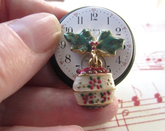 Holly Time Brooch