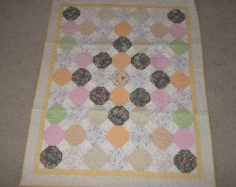 Baby Girl Snowball Quilt
