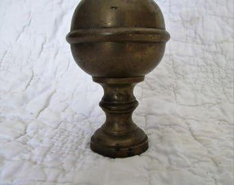 Antique Brass Finial - Fireplace surround Finial SALE