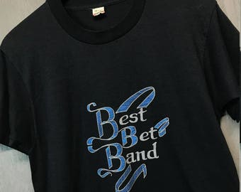 S thin vintage 80s Best Bet Band screen stars t shirt