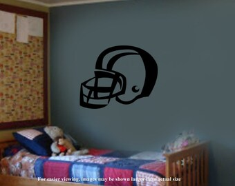 Sports Football Player Helmet Vinyl Wall Graphics Decals 15W x 13h