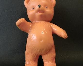 Czechoslovakia Plastic Squeaky Bear Toy