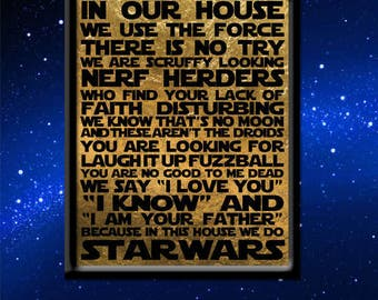 Star Wars House Rules Art Print