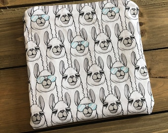 Snack Bag - One Cool Llama Snack Bag - Reusable Snack Bag - Zipper Pouch