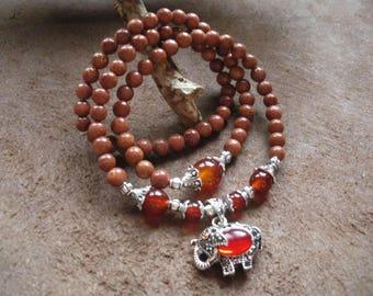 Goldstone 6 mm Beads Bracelet