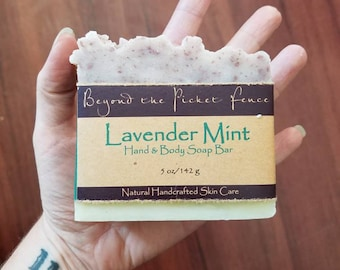 Lavender and Peppermint handmade soap by Beyond The Picket Fence