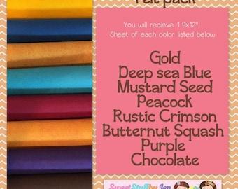 Evening Hayride-Fall-Autumn_Craft Wool Felt-Wool Blend Merino Felt Variety Pack-Fall Bundle