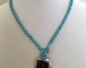 Pendant Necklace, Turquoise Necklace, Bead Necklace
