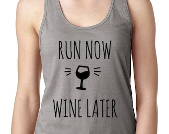 Wine Later Work Out Tank - Fitness Tank - Women's Workout Tank - Women's Fitness Tank Top - Gym Tank Top - Work Out Top