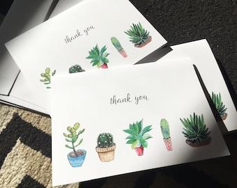 Tiny Cactus Thank You Card 4bar
