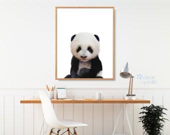 NURSERY ANIMAL PRINT, Nursery Animal Art, Nursery Animals, Baby Animal Prints, Panda Print, Panda Gifts, Baby Panda, Panda Decor, Panda