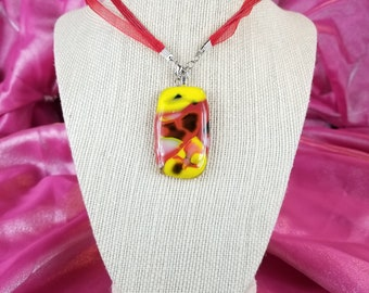 Ketchup And Mustard Glass Pendant
