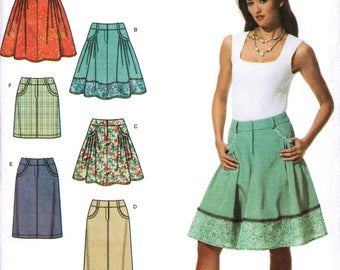 SIMPLICITY 3754 sewing pattern. Skirt pattern.  Size 12-14-16-18-20  New.  Uncut.  Factory folded.