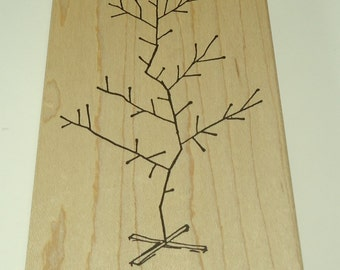Bare Christmas Tree Wood Mounted Rubber Stamp By Judith Holiday Charlie Brown