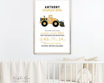 Art Print - Birth Poster, Little Digger Dude in Training  (W00033)