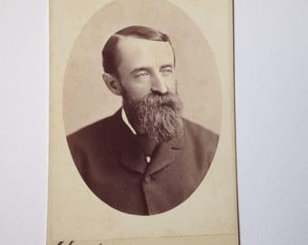 Cabinet Card Photo San Francisco California CA Acme Photograph Antique Man in a Suit Vintage