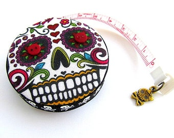 Tape Measure Sugar Skulls Retractable Measuring Tape