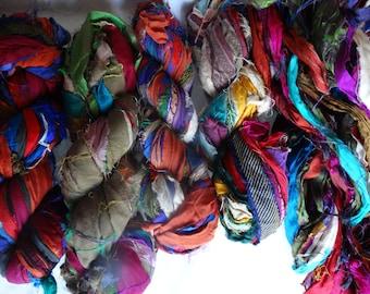 Skein Multicolors Sari Silk Ribbon