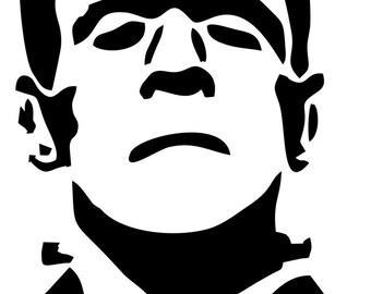 Frankenstein's monster vinyl decal