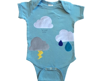 Clouds Are Everywhere! - Blue Infant Bodysuit – Boys or Girls