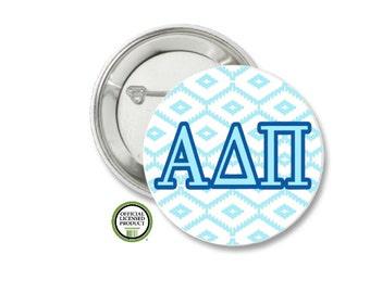 Alpha Delta Pi Pin Back Button, Pin Back, Greek Button, Sorority gift, Big Little Gift, Alpha Delta Pi Gift, ADPi