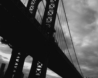 Manhattan Bridge - Brooklyn, NY  8 x 10  Photograph - NYC Decor - Affordable Home Decor- Fine Art Photography- New York photo prints