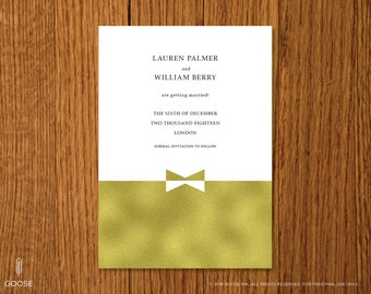 Gold Fancy | Printable Save the Date Template | Instant Download