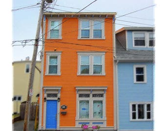 Jelly Bean Row St. Johns, Newfoundland - Colorful Wall Decor